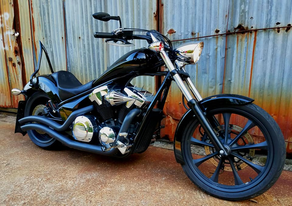 2015 Honda Fury with Ginz Choppers sissy bar