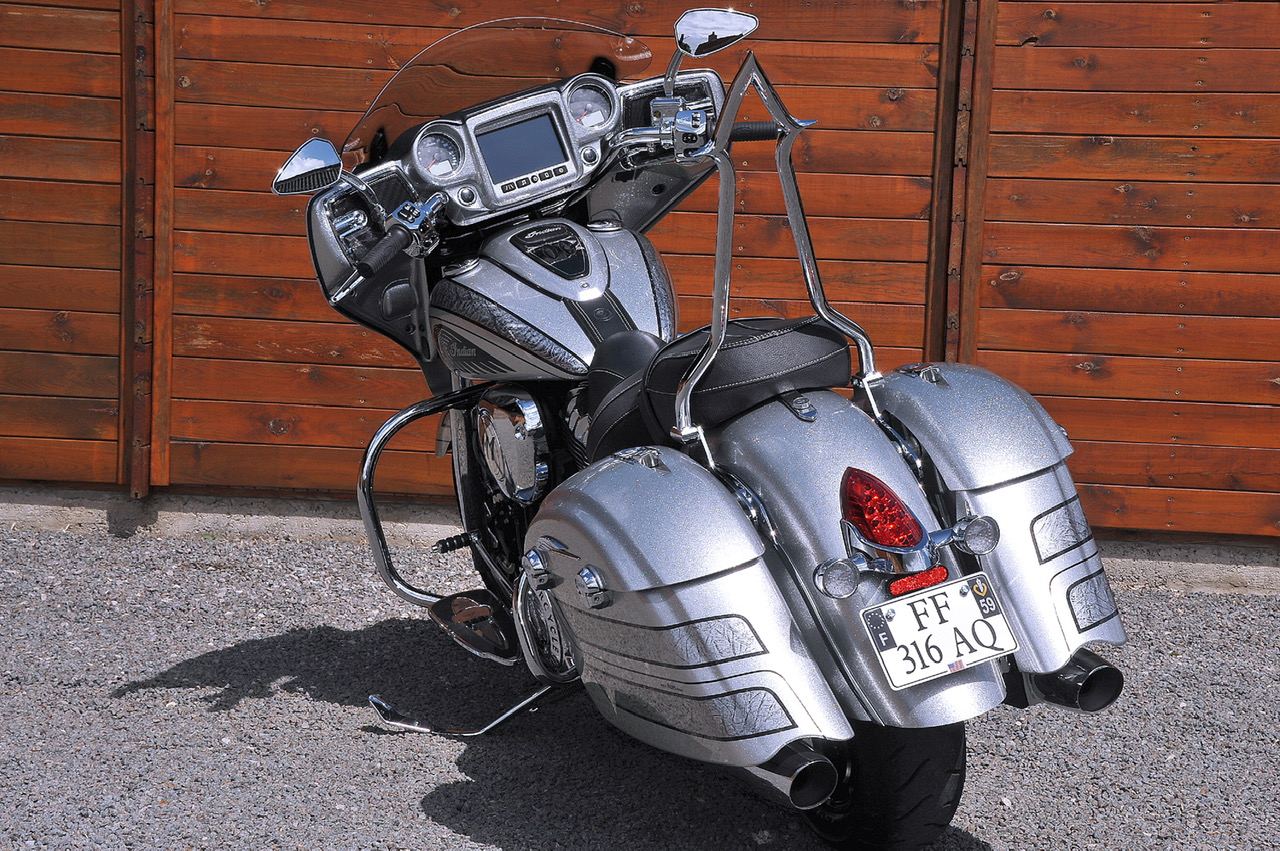 Indian Chieftain with Ginz Choppers sissy bar