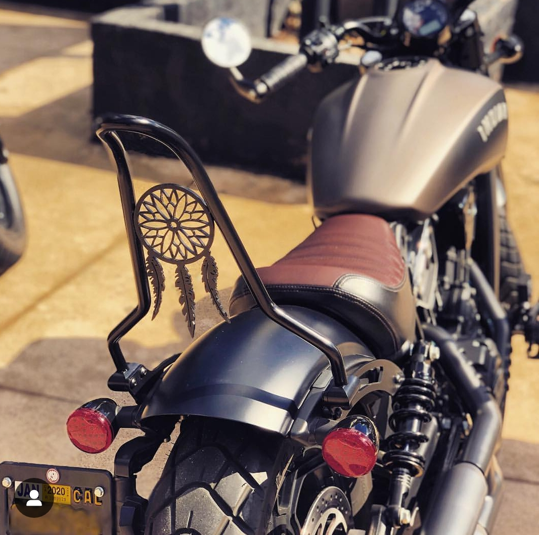 Indian Scout Bobber with Ginz Choppers sissy bar